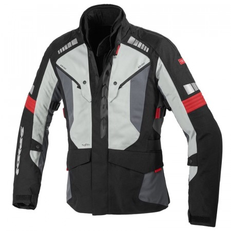 SPIDI OUTLANDER JAKKE BLACK/RED/GREY